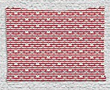 asddcdfdd 4th of July Tapestry, Stripes with Stars Freedom and Liberty of the USA National Holiday, Wall Hanging for Bedroom Living Room Dorm, 80 W X 60 L Inches, Royal Blue Biege Red