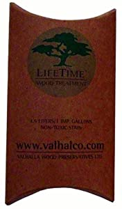 Valhalla Wood Preservative 1-Gallon Eco Friendly Non Toxic Lifetime Wood Treatment Pouch