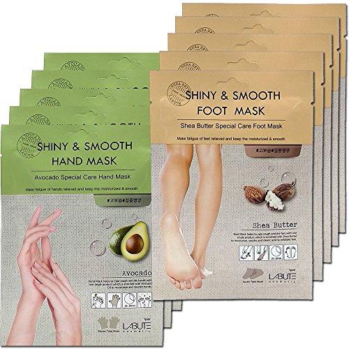 LABUTE Avocado SheaButter Special Care Hand Foot Mask Sheet 10EA
