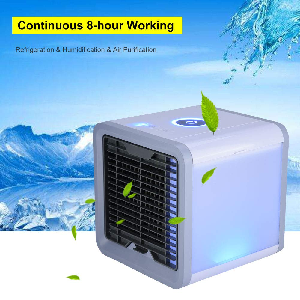 Desktop Air Cooler Portable Personal Air Conditioner Quiet Purification Humidification Refrigeration Air Cooler