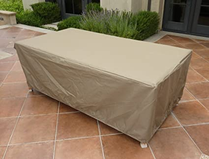 amazon com rectangular or oval table cover 84 l x 44 w x 25 h rh amazon com patio table covers rectangular veranda patio table covers rectangular 103x58x35