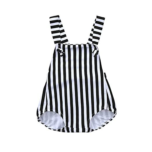 90471508bd9 2018 Summer Toddler Baby Girl Clothes Boy Striped Romper Backless Jumpsuit  Sale Yamally (0-