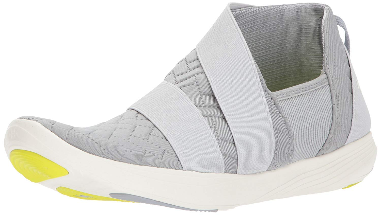 Under Armour Women's Street Precision Slip Metallic Sneaker, Overcast Gray (100)/Ivory, 7