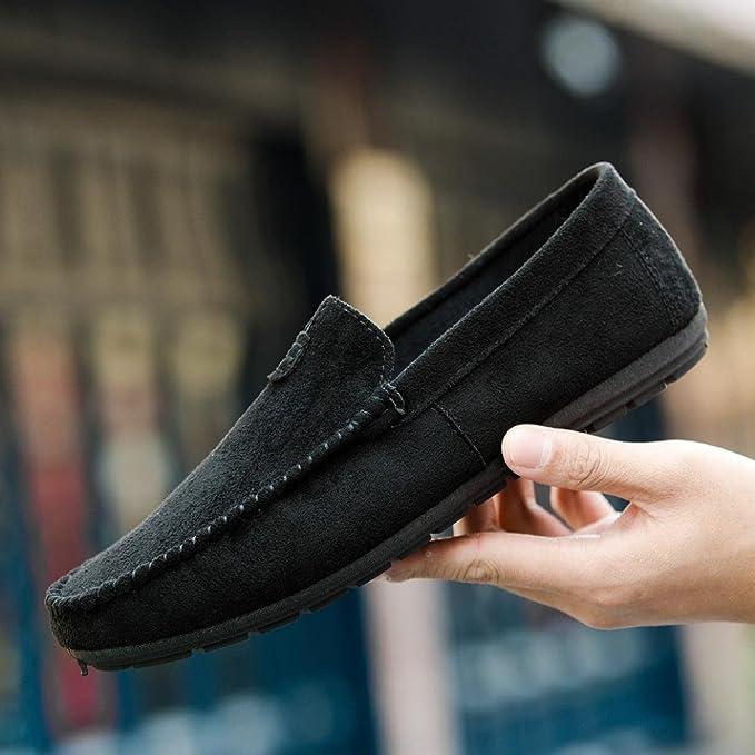 Zapatos Hombre,Estilo de verano joven Cool Men s casual y cómodo conducción zapatos sólidos de frijol LMMVP (Negro, 39(EU)): Amazon.es: Iluminación