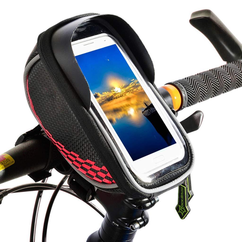 JIBO Touchscreen Vorderrohr Fahrrad Tasche MTB Rennrad Rahmen Satteltasche Paket Bike Zubehör