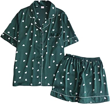 ACEBABY Pijamas de Manga Corta para Mujer Pijamas Mujer Verano ...