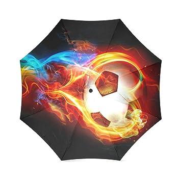 Paraguas plegable y resistente al viento, diseño de balón de ...