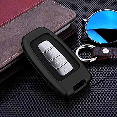 [MissBlue] Aircraft Aluminum Key Fob Cover For KIA Remote Key, Protector Case Fits KIA K2 K5 Soul Sportage R Shuma Borrego Car Key, Unisex Leather Key Fob Keychain for Men Key Holder for Women