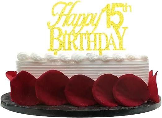 Remarkable Amazon Com Minhero Happy 15Th Birthday Cake Topper For 15Th Funny Birthday Cards Online Amentibdeldamsfinfo