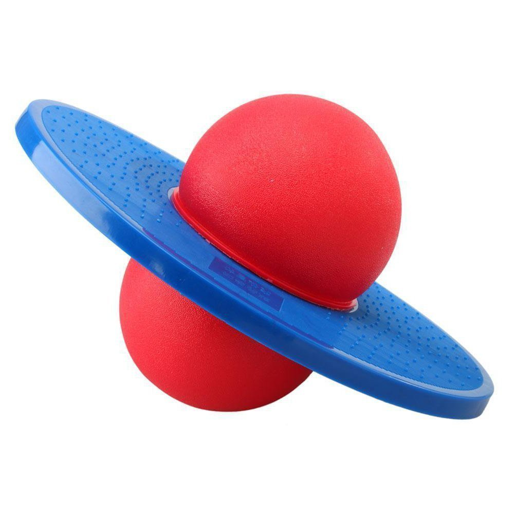 Pogo Adults Kids Spring Summer Outdoor Play Fun Jumper Safe Hooper Toddlers ports Balance Platform Fitness Ball for Aerobic Balance Coordination Exercises
