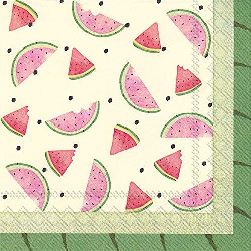Ideal Home Range 20 Count Watermelon Bites Paper Luncheon Napkins ()