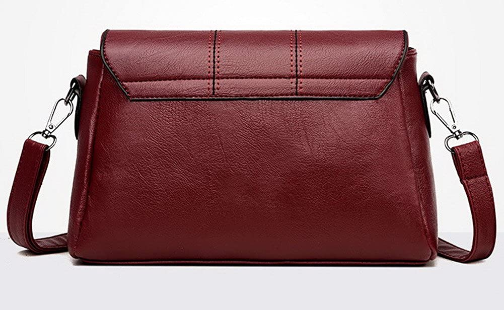 Misimlar Womens Satchel-Style Casual Pu Crossbody Bags PKUBX181056