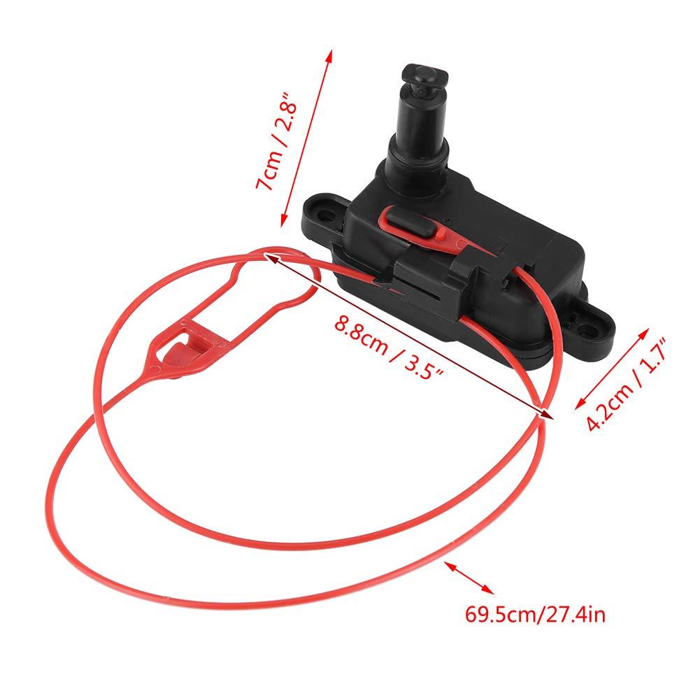 KIMISS 4L0862153D Volet de Carburant Voiture Plastique ABS D/éverrouillage de porte pour A3 A6 A7 Q3 Q7