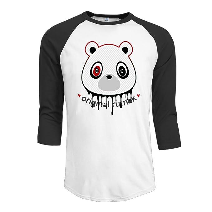 Algodón Yeezy tóner oso espuma hombre 3/4 Manga Raglán camiseta de Tops: Amazon.es: Ropa y accesorios