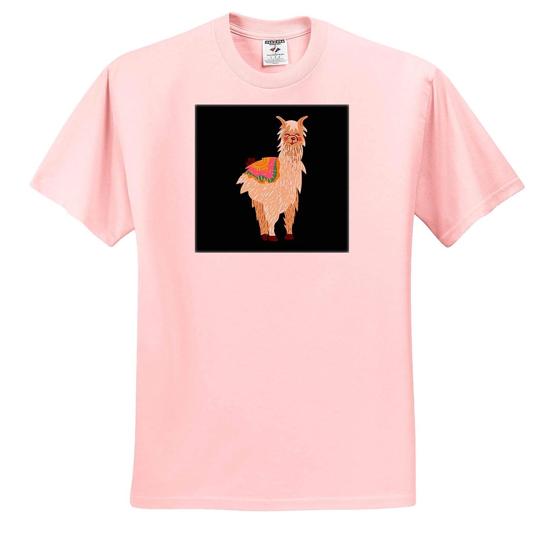 3dRose Sven Herkenrath Animal Graphic Design of Llama Lama Peru Alpaca T-Shirts