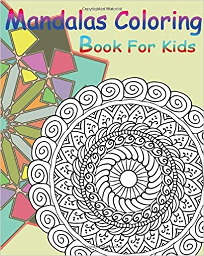 Mandalas Coloring Book For Kids : Happy Coloring Book: Stained Glass Coloring Book