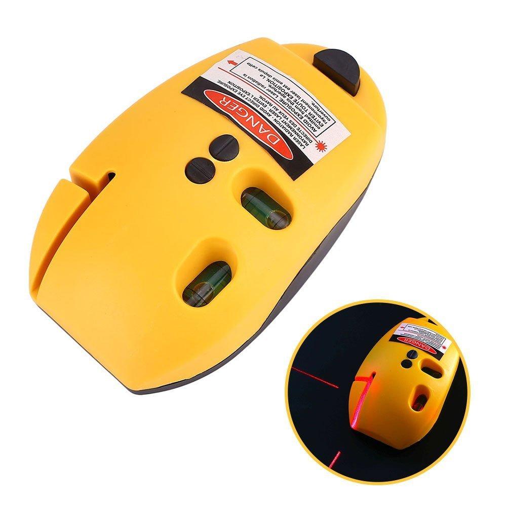 Tiptiper Medidor de nivel de lí nea lá ser, tipo de rató n, á ngulo recto, infrarrojo, nivel lá ser, lí nea vertical, lí nea, herramienta de medició n, amarillo tipo de ratón ángulo recto nivel láser