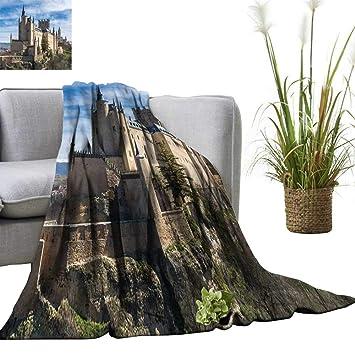 Amazon.com: YOYI Single-Sided blanketthe Alcazar Segovia ...