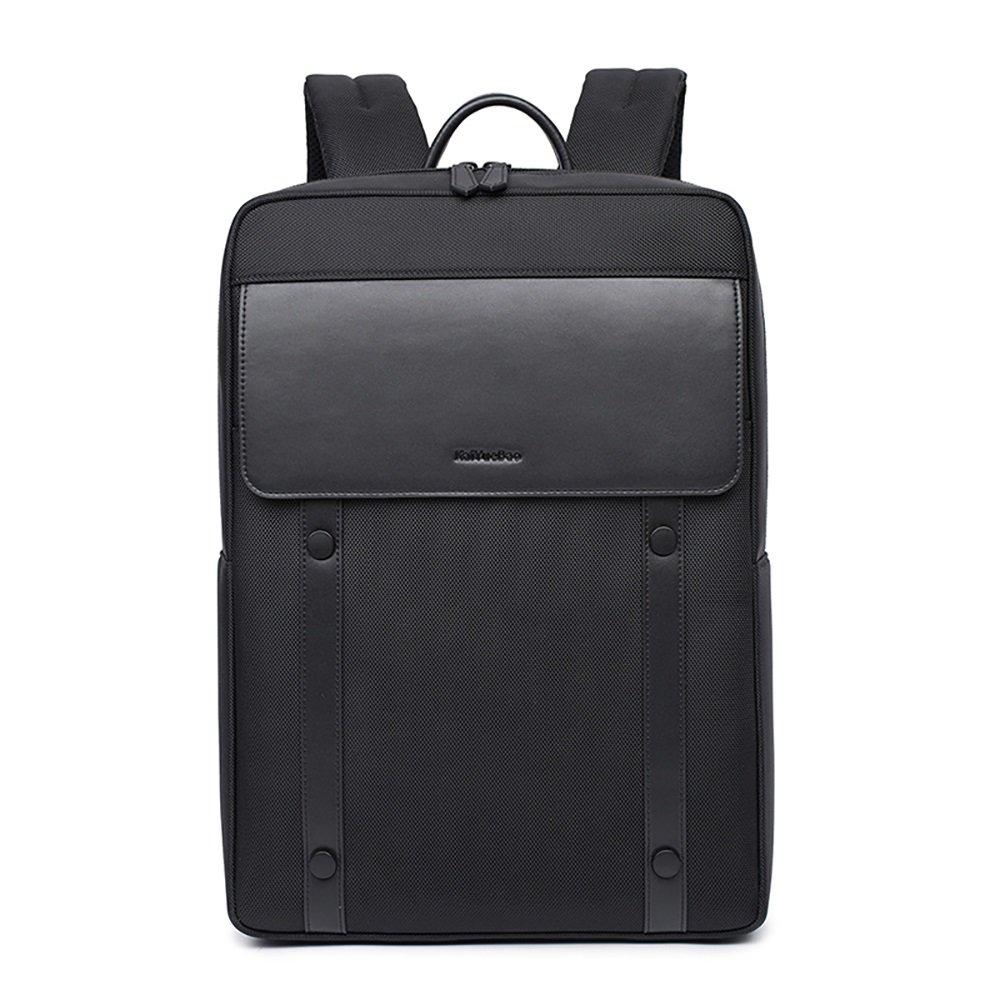 Vergeania ビジネスバッグメンズバックパック防水バッグ盗難防止大容量多機能バックパックA4軽量人気の通勤通勤出張ショルダーバッグ バッグ (色 : 黒)  黒 B07RTGXFF9