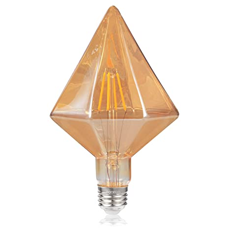 Amazon.com: Bombilla Edison de diamante, 4 W (40 W ...
