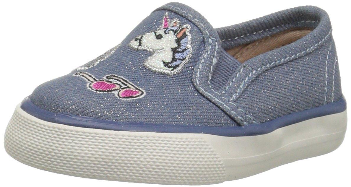 The Children's Place Kids' Sneaker,Denim-TG Denim Patch Rockstar,6 M US Toddler