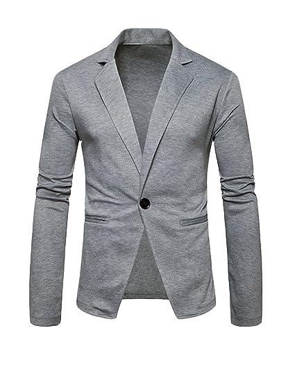 PengGeng Uomo Casual One Button Elegante Vestito di Affari Cappotto Giacca  Blazers Top Outwear Slim Fit  Amazon.it  Abbigliamento e8dc8c17712