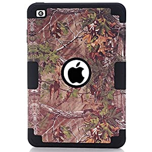 S-Smile Hybrid Shockproof Drop Resistance Protective Case for Ipad Mini 1 / Ipad Mini 2 / Ipad Mini 3 + 1 Screen Protector and Pcs S-Smile Stylus (Forest Black)