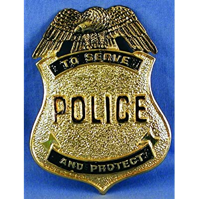 Police Costume Pin Badge