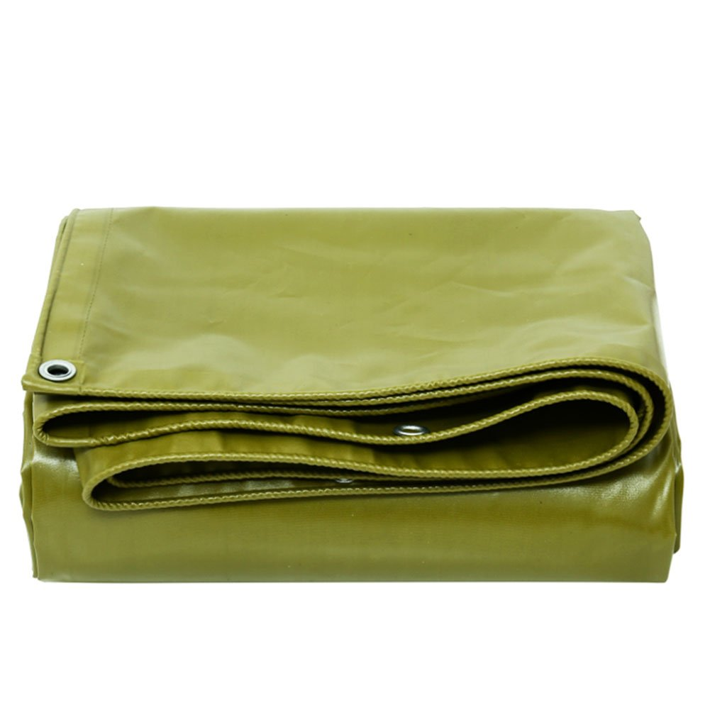 KKCF オーニング 防水 日焼け止め 防風 耐酸性と耐アルカリ性 ポリ塩化ビニル 、厚さ:0.5±0.02mm 、520±20g / M2 、7サイズ (色 : Army yellow color, サイズ さいず : 2.85x2.85m) B07FXMRL34 2.85x2.85m|Army yellow color Army yellow color 2.85x2.85m