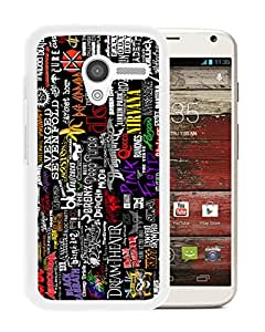New Unique Custom Designed Case With Rock Bands Collection White For Motorola Moto X Phone Case