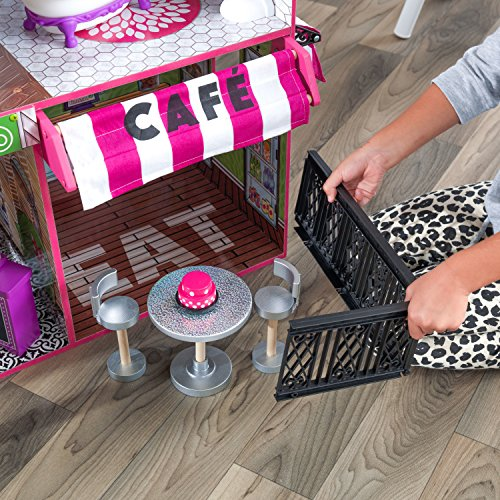 61EtfaOnN0L - KidKraft So Chic Dollhouse with Furniture
