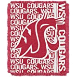 NCAA Washington State Shockers 48 x 60-Inch Double Play Jacquard Triple Woven Throw