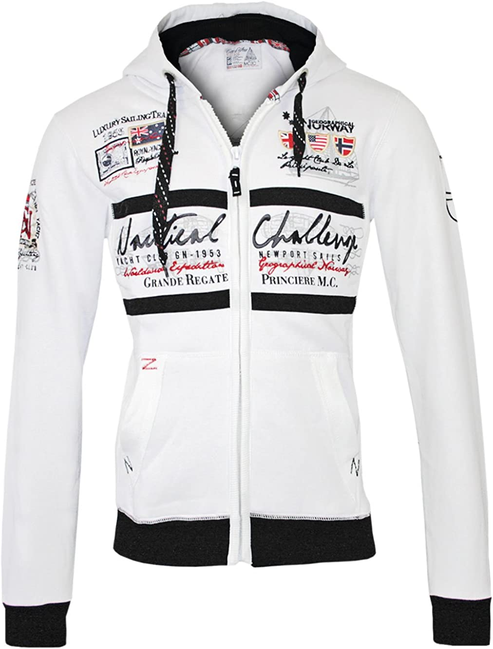 GEOGRAPHICAL NORWAY Hombre Diseñador Capucha Chaqueta - GOASTING -