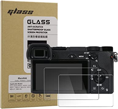 Glass Screen Protector Compatible Sony Alpha A6000 A6400 A5000 A6300 NEX 7 3N 5