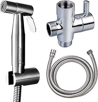 """Stainless Steel Brushed G1//2/""""Shut Off Valve For Bathroom Toilet Bidet Shower"""