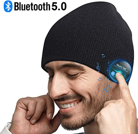 Best Gifts for Christmas Fully Washable Built-in Microphone Fit for Outdoor Sports HIGHEVER Music Hat with Headphones