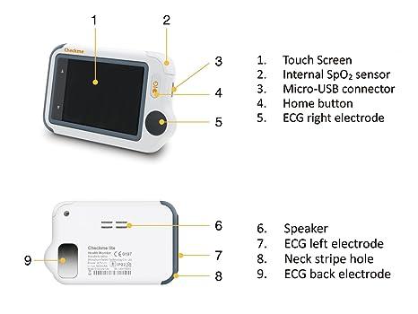 Viatom Checkme TM Lite Salud Monitor v1.2 - Grabador de ECG, de Pulso, no-Cuff Tensiómetro Libre de Tracker, Software de gestión de Datos de PC: Amazon.es: ...