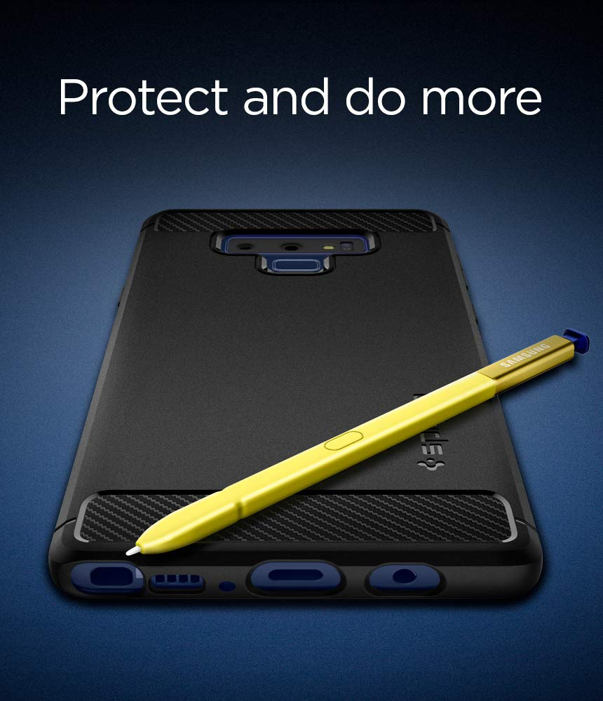 Spigen Rugged Armor Galaxy Note 9 Case with Resilient Shock Absorption and Carbon Fiber Design for Galaxy Note 9 (2018) - Matte Black by Spigen (Image #3)