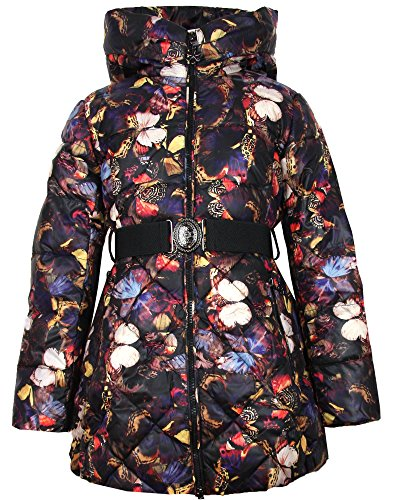 Lisa-Rella Girls' Quilted Down Coat in Butterfly Print, Sizes 6-16 (14) by Lisa-Rella