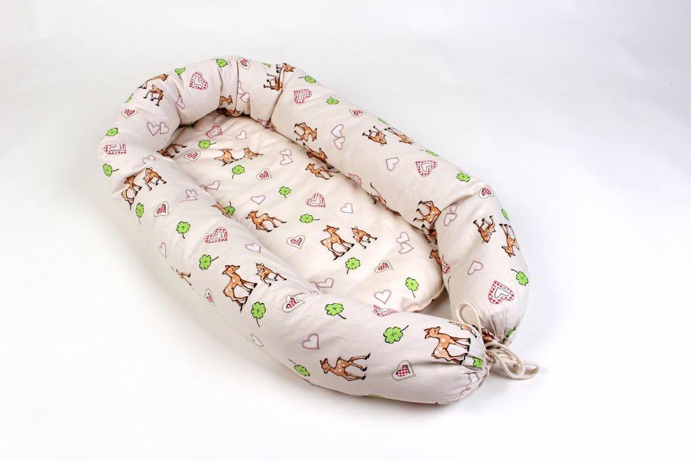 Bio-Babynestchen- Neugeborene Baby-Reisebett-Kokon-0-6Monate G.O.T.S (Bambi)