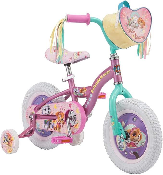 Nickelodeon. Bicicleta de Patrulla Canina para niña de 12 Pulgadas, Color Morado: Amazon.es: Deportes y aire libre