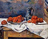 Gauguin Paul Tomatoes and a Pewter Tankard on a Table 100% Hand Painted Oil Paintings Reproductions 12X16 Inch