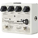 Caline Acoustic Guitar Pedal Electric Preamp DI Box Effects Reverb Boost Pedals White CP-67
