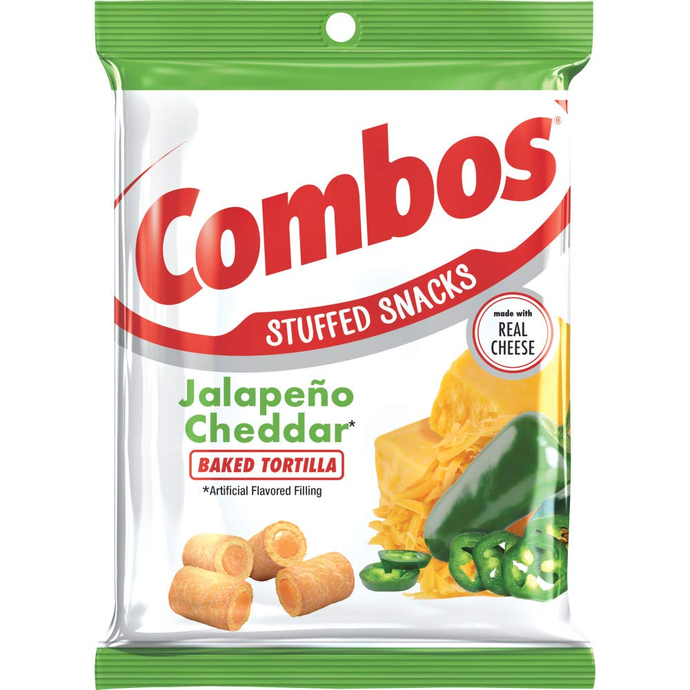 Combos Jalapeño Cheddar Tortilla Baked Snacks, 6.3 Ounce (Pack of 12) by Combos