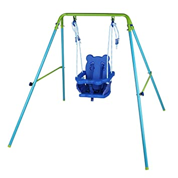 Outdoor Baby Swing >> Hlc Indoor Outdoor Safe Infant Toddler Swing Set For Baby Children
