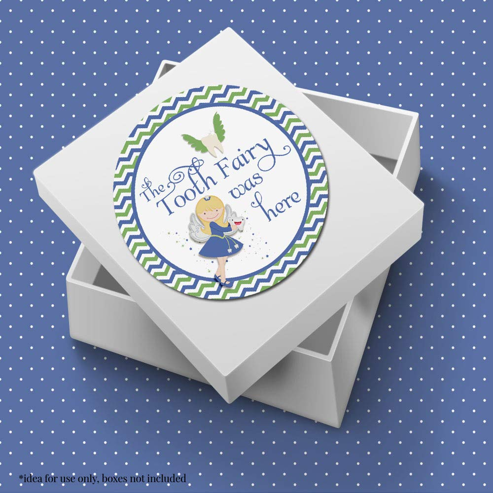 Great for Seals /& Labels Official Tooth Fairy Thank You Stickers for Boys 20 2 Circle Stickers by AmandaCreation
