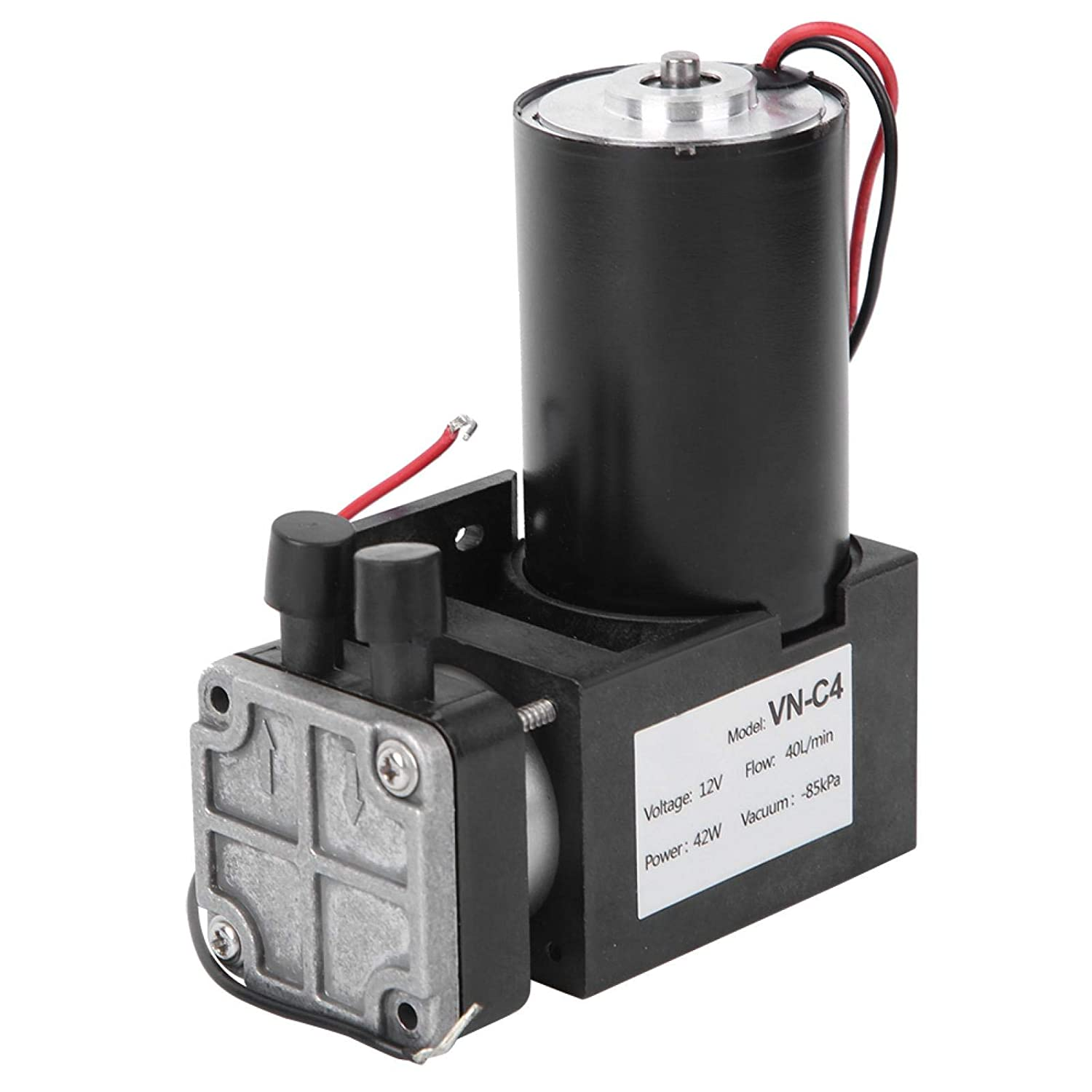 Industrial Parts Large Flow Small Suction Pump Negative Pressure Pump Low-Noise Firm Structure DC 12V Mini Vacuum Pump Brushless Pump for Vacuum Packaging