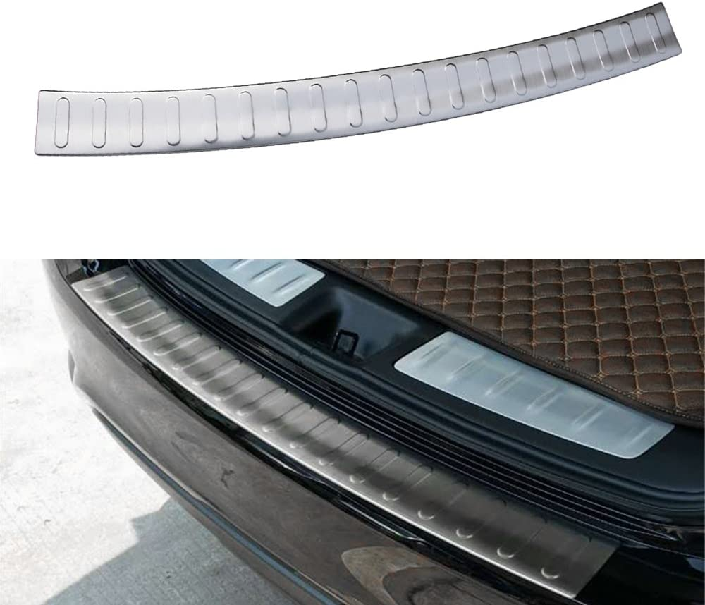 Stainless Steel Black Rear Bumper Sill Protector Cover Trim For Infiniti QX60