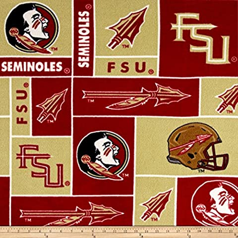Collegiate Fleece Florida State University Fabric By The Yard - Florida State Fleece Fabric