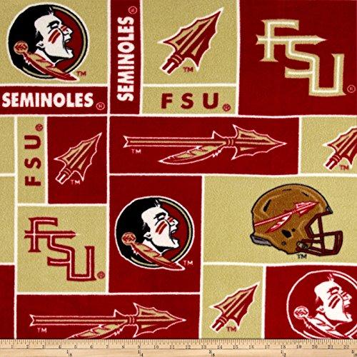 Sykel Enterprises 0317675 Collegiate Fleece Florida State University Fabric by The - Cushion Seat State Florida
